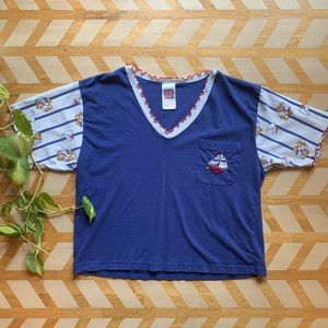 VTG   Sailboat & Teddy Night Shirt
